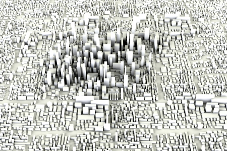 Moderne Stad Concept Stockfoto