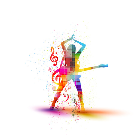 musical silhouette design, easy all editable Vector