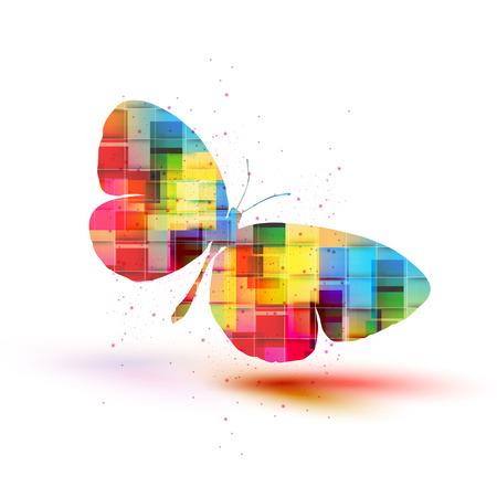 Vector butterflies background design Ilustrace