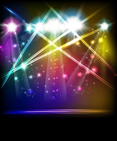 EPS10 ベクトル舞台照明、簡単すべて編集可能  イラスト・ベクター素材