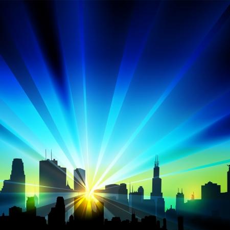 len: Vector city silhouette Illustration