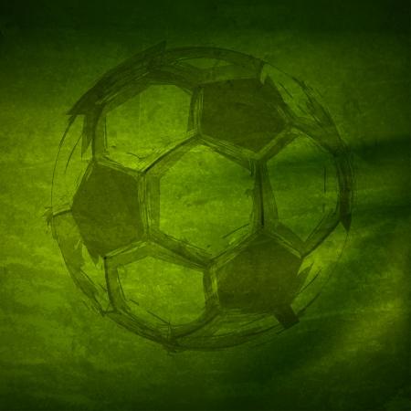 footballs: Vector Watercolor Soccer Ball, easy all editable