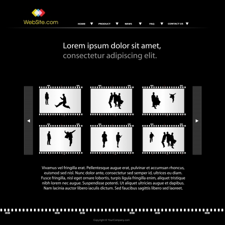 modern personal photo web site template  Vector