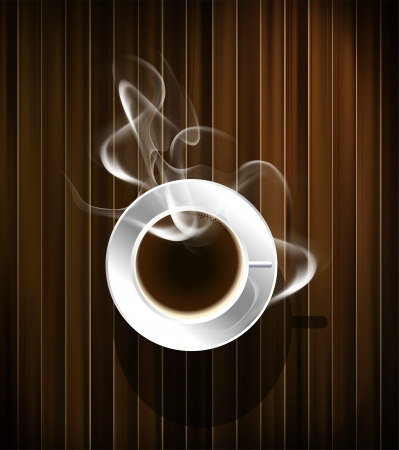 coffee cup vector: Coffee cup background, vector eps10
