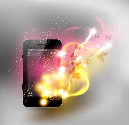 e reader: Universal design phone, neon design