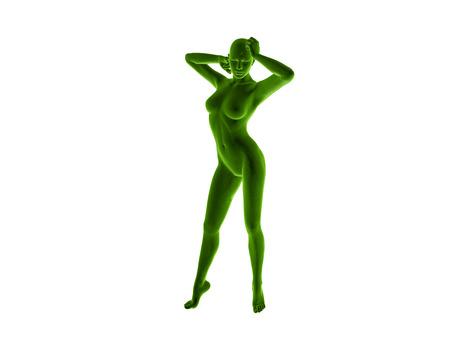 woman fitness 3D rendered Illustration illustration