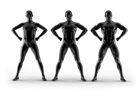 portrait bodybuilder, different pose photo