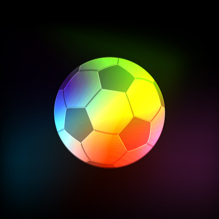 Light Neon abstract vector football ball, soccer Ball Vector