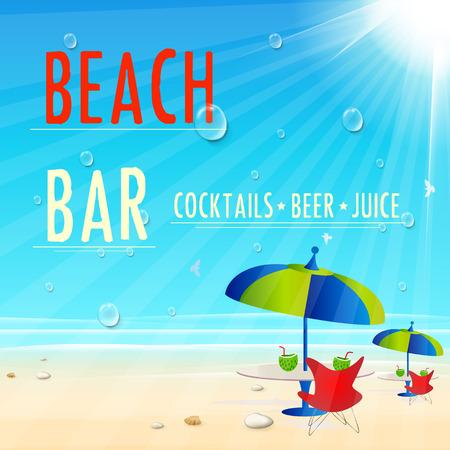 Playa del vintage Cartel Juice Bar, fácil todo editable