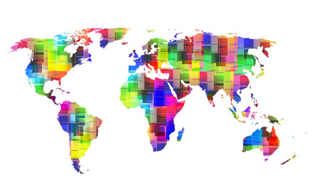 color World map, eps10 Vector