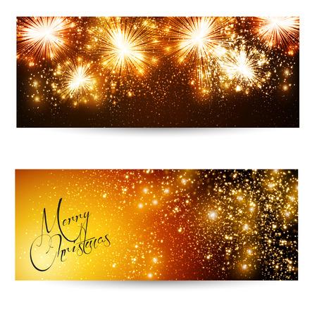 champagne celebration: Elegant Christmas layout Illustration