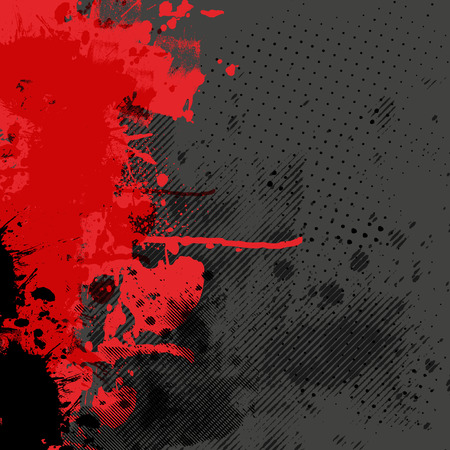 spatters: Abstract background with colorful ink splashes