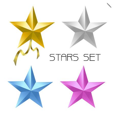 color star set Vector