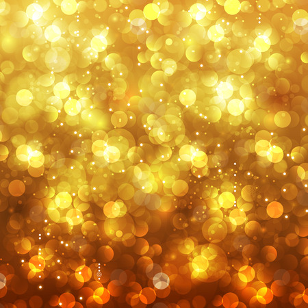 golden  gleam: Festive Christmas and New Year feast bokeh background, easy editable