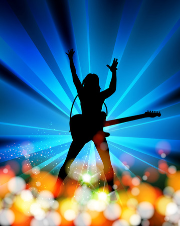 rock: illustration of music,  abstract background   easy editable