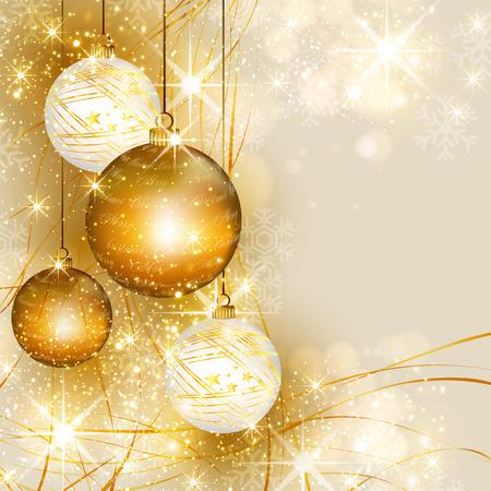 Kerstgouden achtergrond, makkelijk alles bewerkbaar