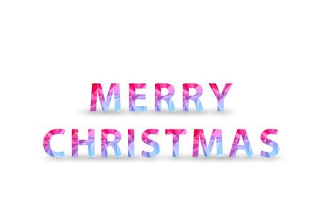 Christmas Polygon Tag, easy all editable Vector