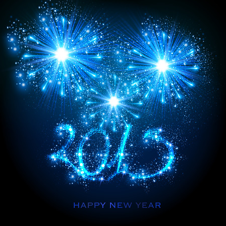 New Year 2015, easy editable Vector