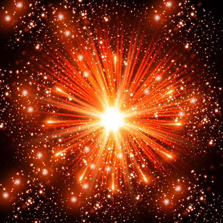 fireworks show: Red Fireworks