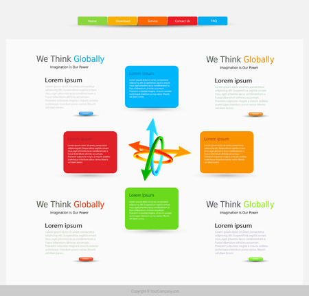 page layout: website design modern template layout page, easy all editable