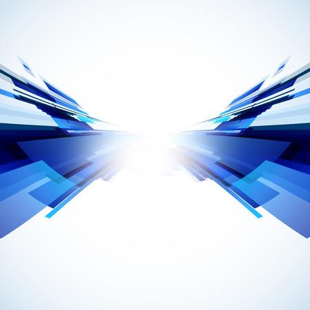 Abstracte blauwe achtergrond, gemakkelijk bewerkbare Stock Illustratie