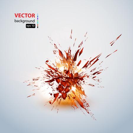 explosion grunge background, easy editable