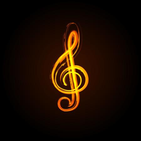 pentagrama musical: Notas de la música sobre un fondo blanco solide, fácil de editar
