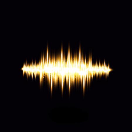 waveform: Light  waveform Illustration