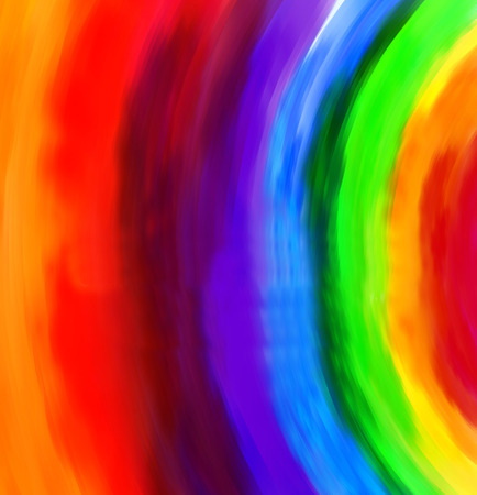 rainbow vector: Vector abstract hand drawn watercolor background