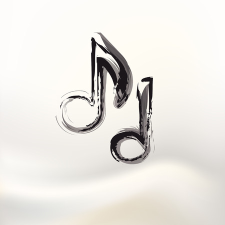 Music notes on white background, easy editable