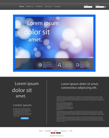 for website: Template for website, easy editable