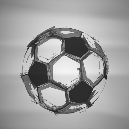 black grunge background: Sketch Soccer Vector