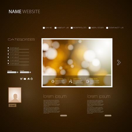 website design: Website Design Template, easy all editable
