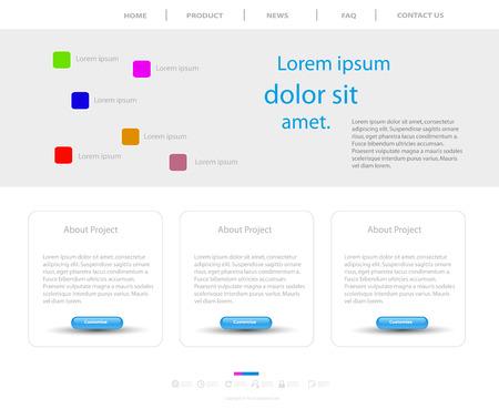corporative: Website modern template Illustration