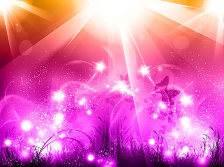 party background: Light party glow background, easy all editable Illustration