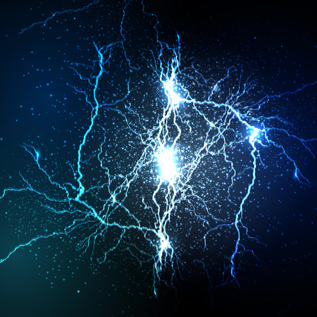 vector lightning flash strike background Reklamní fotografie - 43142977