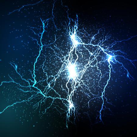 Vektor-Blitz strike Hintergrund Standard-Bild - 43142977