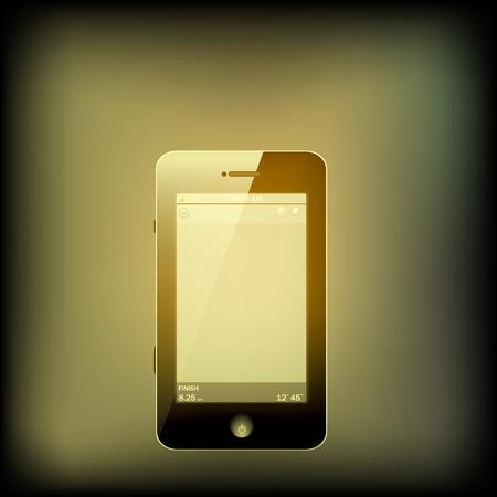 retro color: Retro color Smart phone Illustration