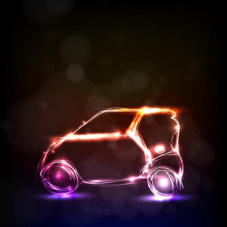 tsar: Abstract car model easy all editable Illustration