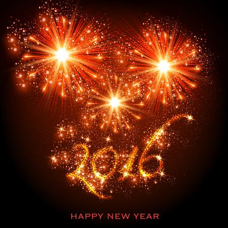 nowy rok: Nowy Rok 2016 Ilustracja