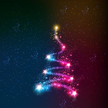 boom: abstract kerstboom Stock Illustratie