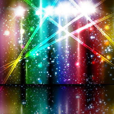 discoteque: spotlight vector background design Illustration