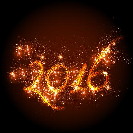 frohes neues jahr: Neues Jahr decken alle leicht bearbeitbaren Illustration