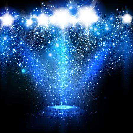sporlights: Spotlights with Blue rays