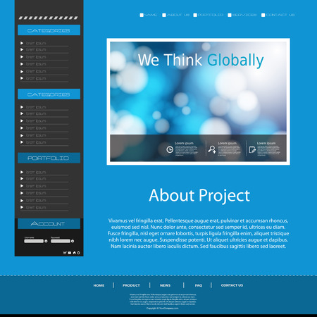 website design: Website design template, easy editable Illustration