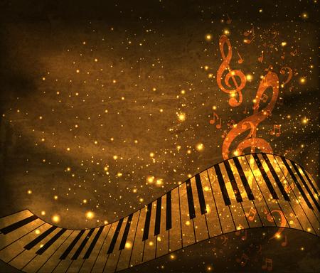 Tło muzyczne, łatwe do edycji Ilustracje wektorowe