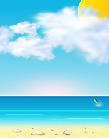 ocean background: summer seaside view, easy editable