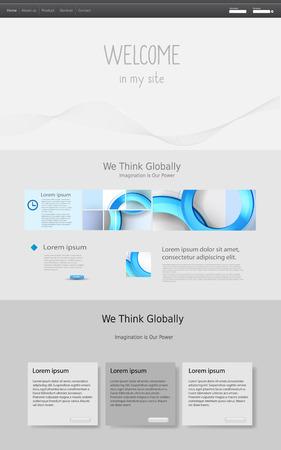 web template: web design template, easy editable