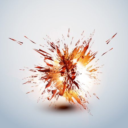 bomb explosion: explode grunge background easy editable