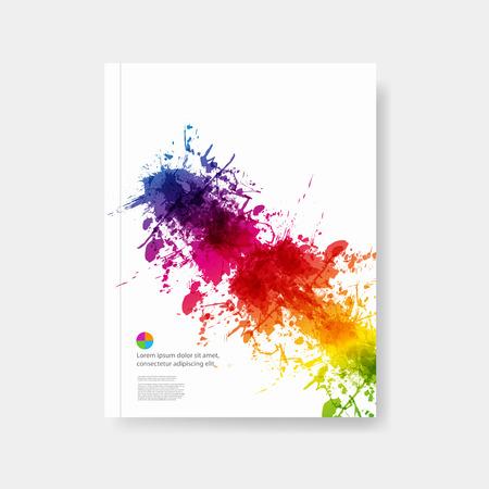 fryer: Business modern layout easy all editable Illustration